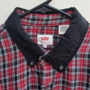 Levi's button up casual shirt plaid NWT